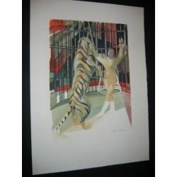 Circus. Tiger.