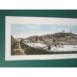 Vue panoramique de Lyon....